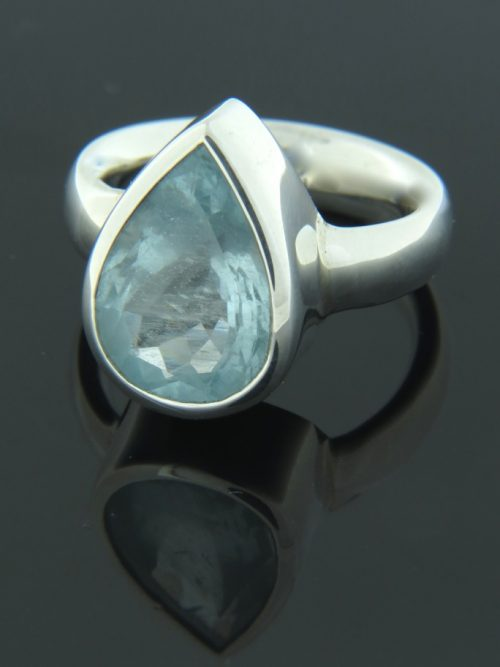 Aquamarine Ring - Sterling Silver - AQ108R