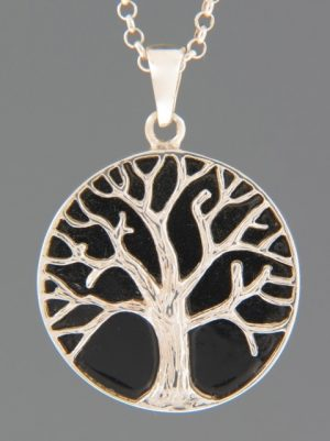 Onyx Pendant - Sterling Silver -  OX360