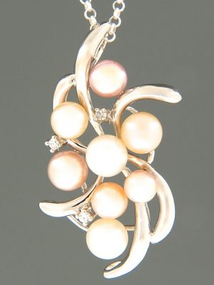 Pacific Pearl Pendant with Zircon - Sterling Silver - Y495