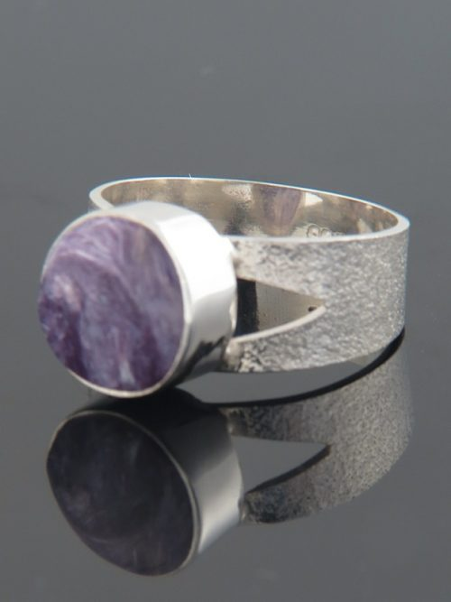 Charoite Ring - Sterling Silver - CH112R