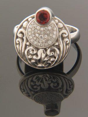 Garnet Ring - Sterling Silver - G107R