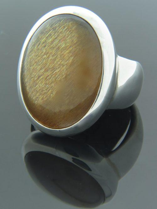 Sunstone Ring - Sterling Silver - SUN105R
