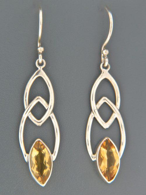 Citrine Earrings - Sterling Silver - C539
