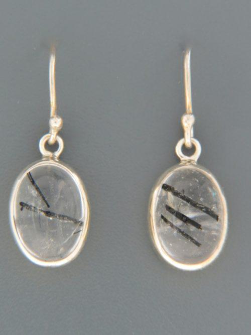 Tourmalinated Quartz Earrings - Sterling Silver - TQZ513