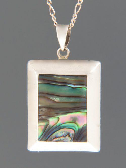 Paua Shell Pendant - Sterling Silver - PA349