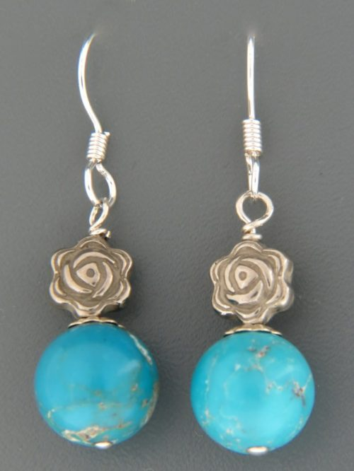 Turquoise Earrings - Sterling Silver - TQ526