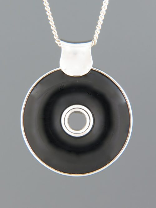 Onyx Pendant - Sterling Silver - OX357