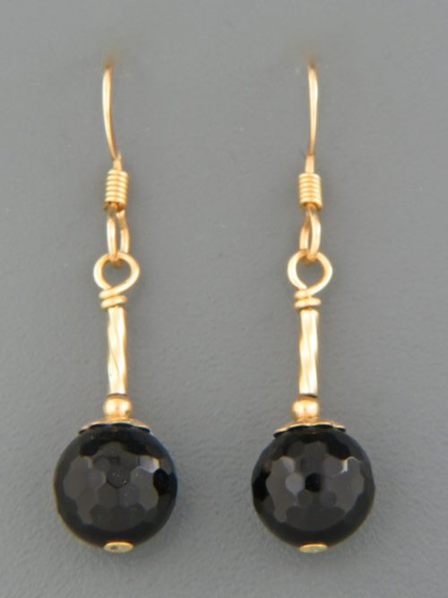 Onyx Earrings - 14ct Gold Filled - OX508G