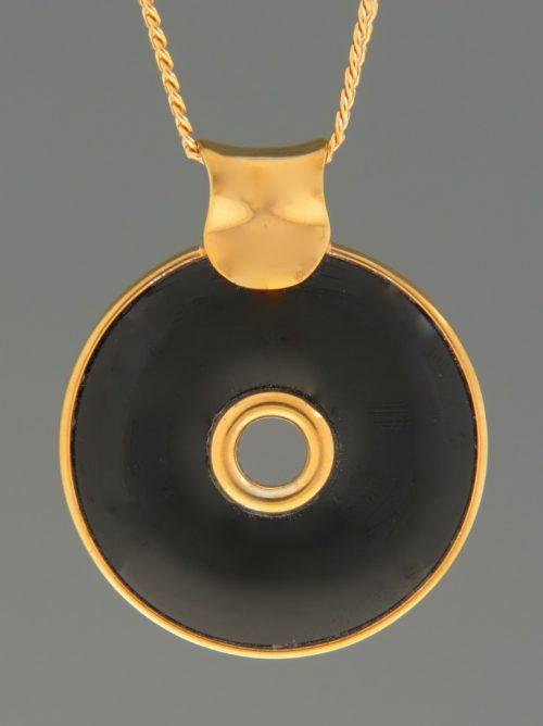 Onyx Pendant - Gold Vermeil - OX357GV