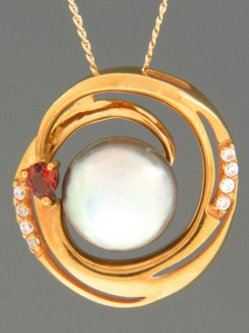Pacific Pearl Pendant - Gold Vermeil - Y443GV