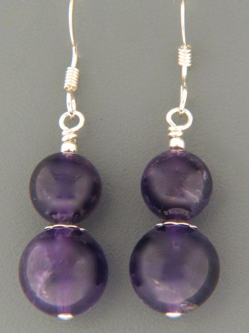 Amethyst Earrings - Sterling Silver - A671