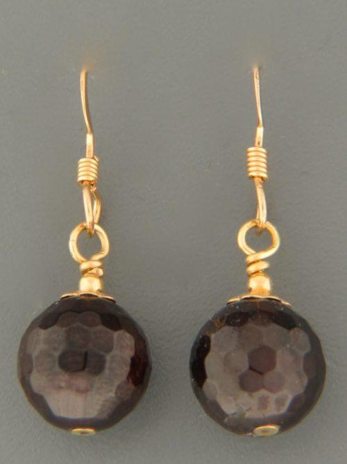 Garnet Earrings - 14ct Gold Filled - G598G