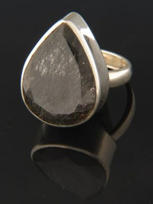 Tourmalinated Quartz Ring - Sterling Silver - TQZ113R