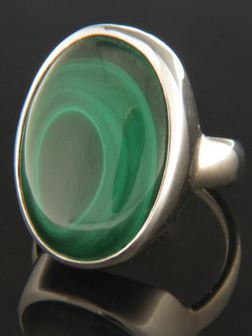 Malachite Ring - Sterling Silver - M104R