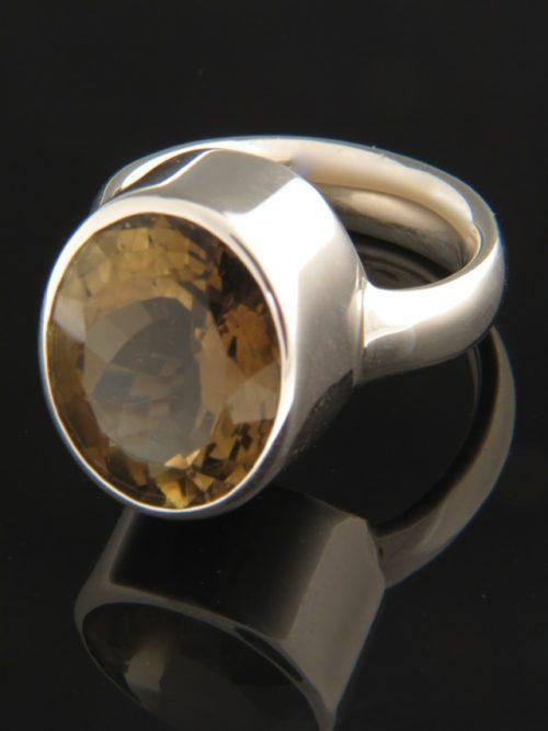 Smokey Quartz Ring - Sterling Silver - SQ106R