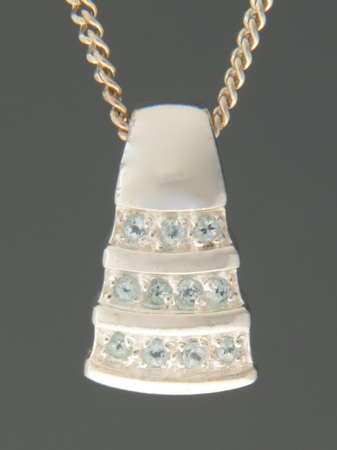 Blue Topaz Pendant - Sterling Silver - BT317