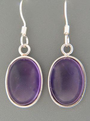 Amethyst Earrings - Sterling Silver - A515