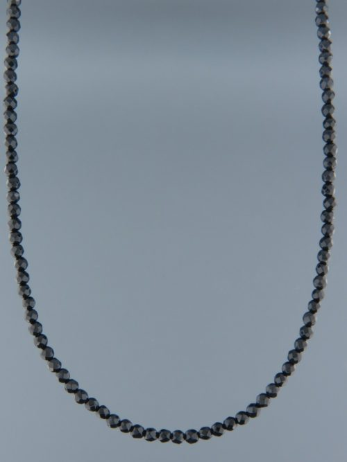 Onyx Necklace - 3mm round faceted stones - OX108
