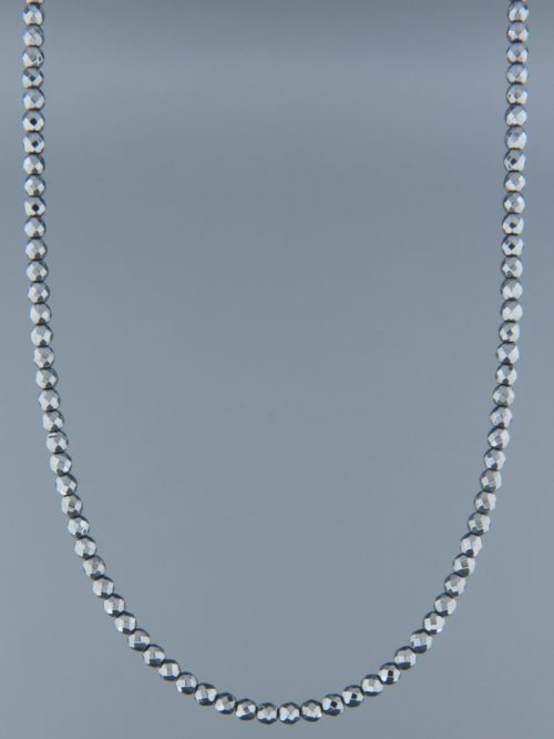 Hematite Necklace - round faceted stones - length 45cm - H007