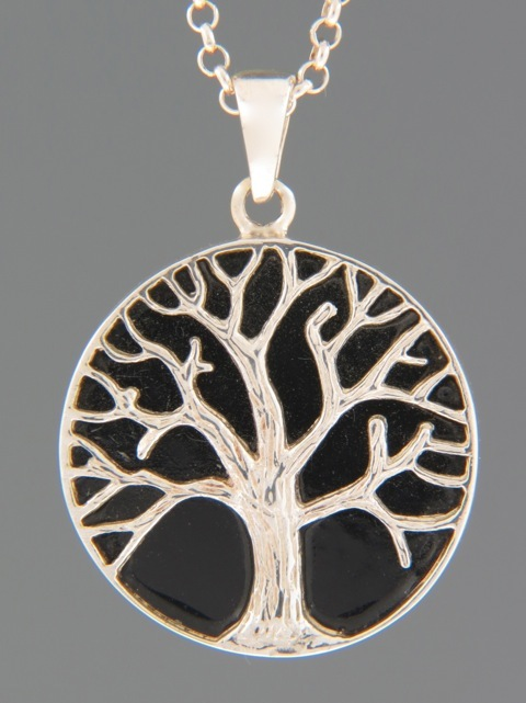 Onyx Pendant - Sterling Silver -  OX370
