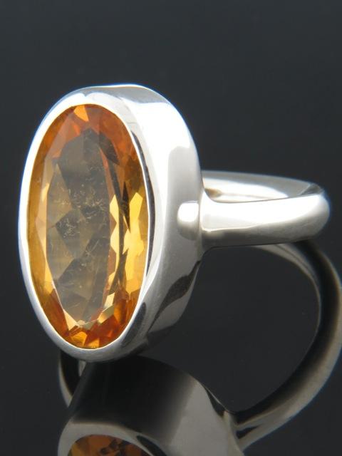 Citrine Ring - Sterling Silver - C103R