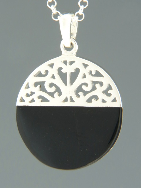 Onyx Pendant - Sterling Silver - OX300