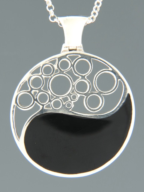 Onyx Pendant - Sterling Silver - OX304