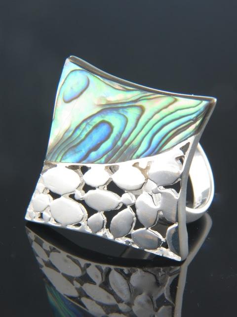 Paua Shell Ring - Sterling Silver - PA104R
