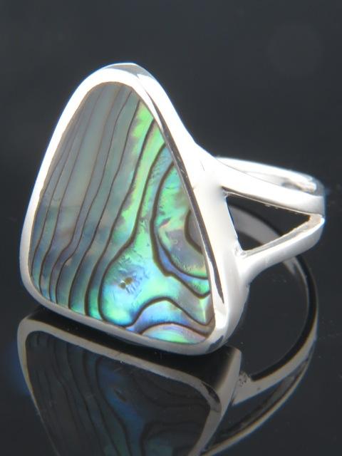 Paua Shell Ring - Sterling Silver - PA100R