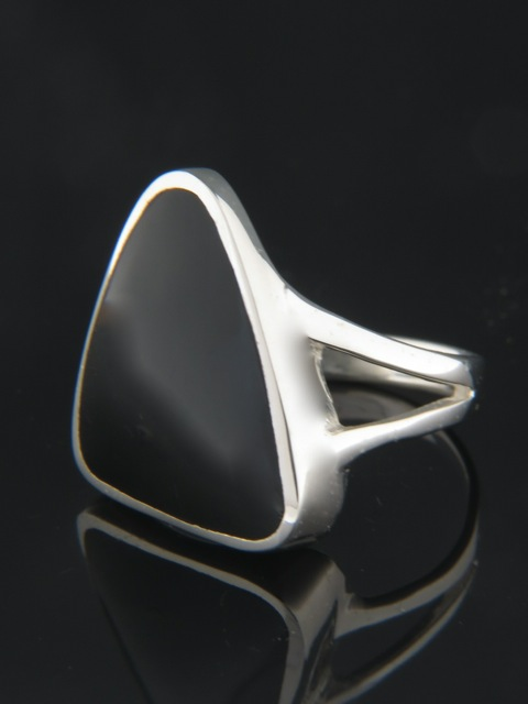 Onyx Ring - Sterling Silver - OX100R