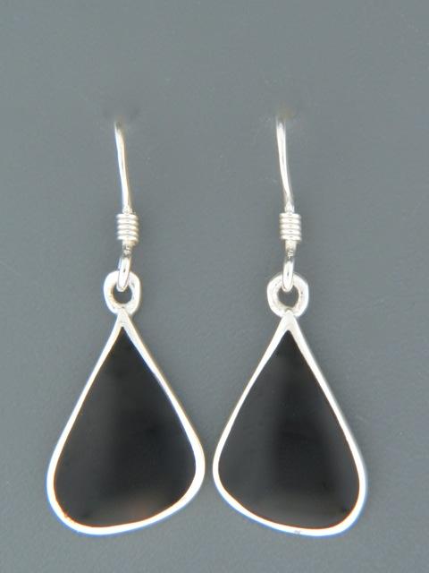 Onyx Earrings - Sterling Silver - OX500