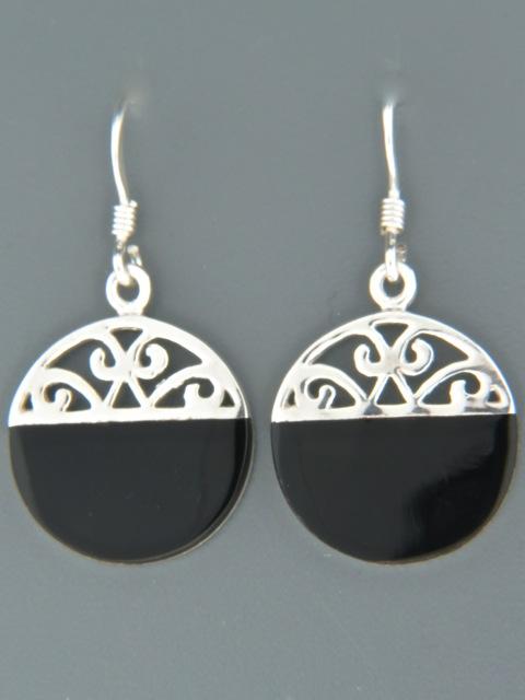 Onyx Earrings - Sterling Silver - OX511