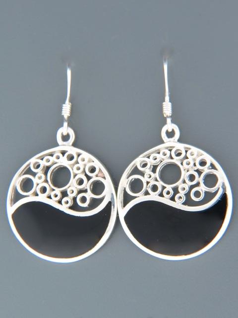 Onyx Earrings - Sterling Silver - OX510