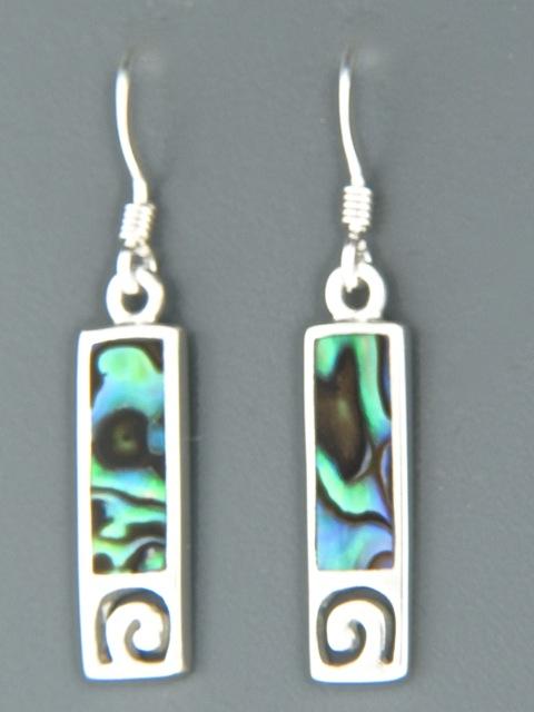Paua Shell Earrings - Sterling Silver - PA507