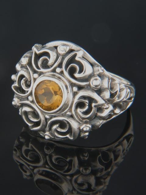 Citrine Ring - Sterling Silver - C105R