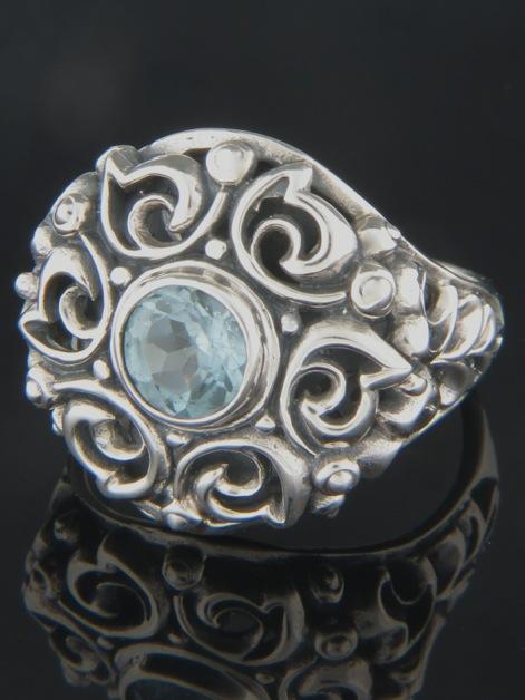 Blue Topaz Ring - Sterling Silver - BT106R
