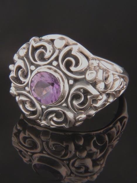 Amethyst Ring - Sterling Silver - A110R