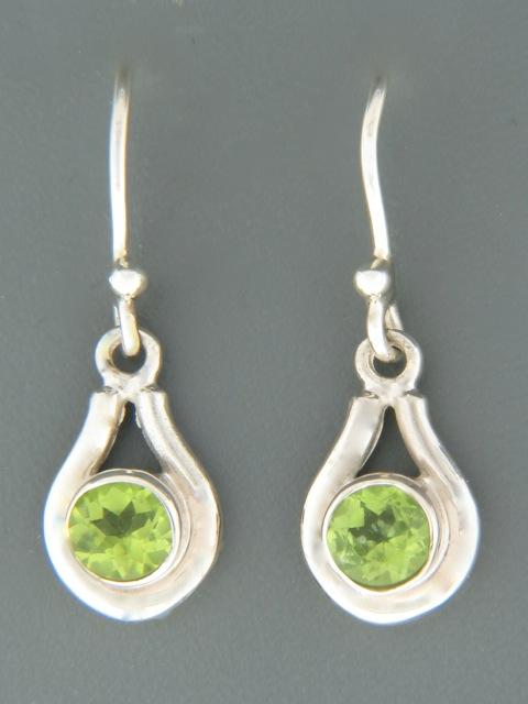 Peridot Earrings - Sterling Silver - P552