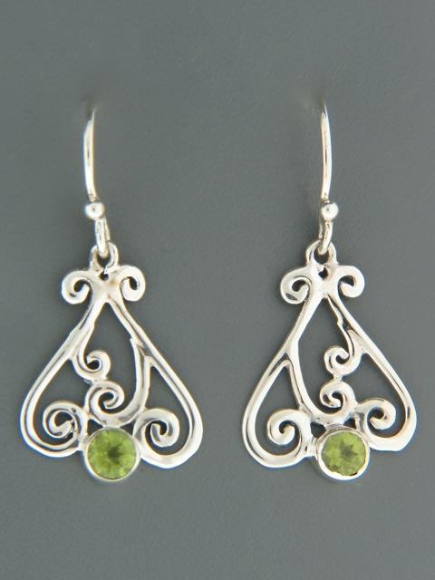 Peridot Earrings - Sterling Silver - P553