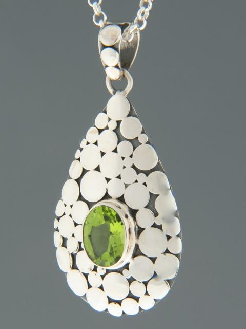 Peridot Pendant - Sterling Silver - P311