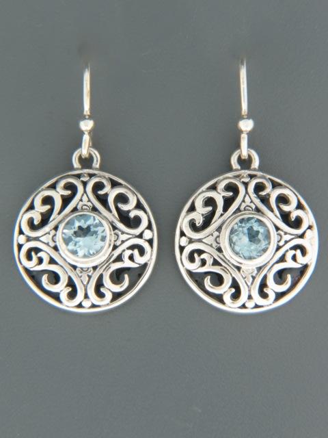 Blue Topaz Earrings - Sterling Silver - BT591
