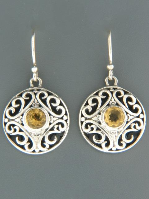 Citrine Earrings - Sterling Silver - C544
