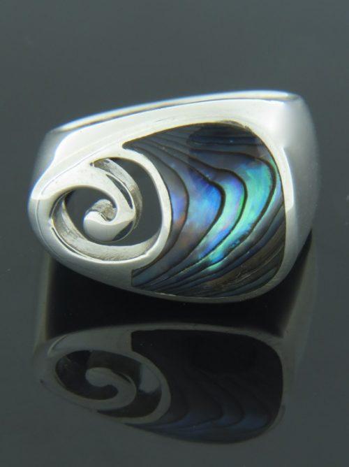 Paua Shell Ring - Sterling Silver - PA110R