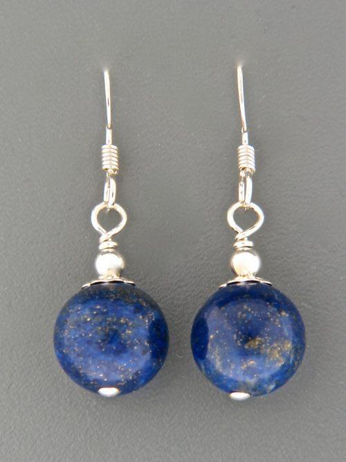 Lapis Lazuli Earrings - Sterling Silver - LL505