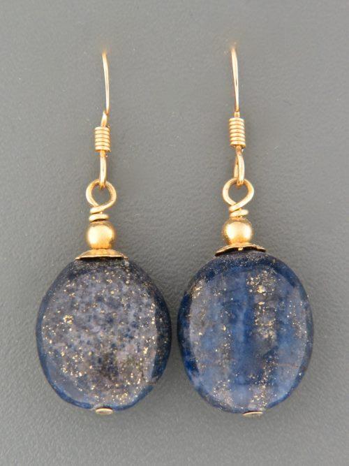 Lapis Lazuli Earrings - 14ct Gold Filled - LL523G