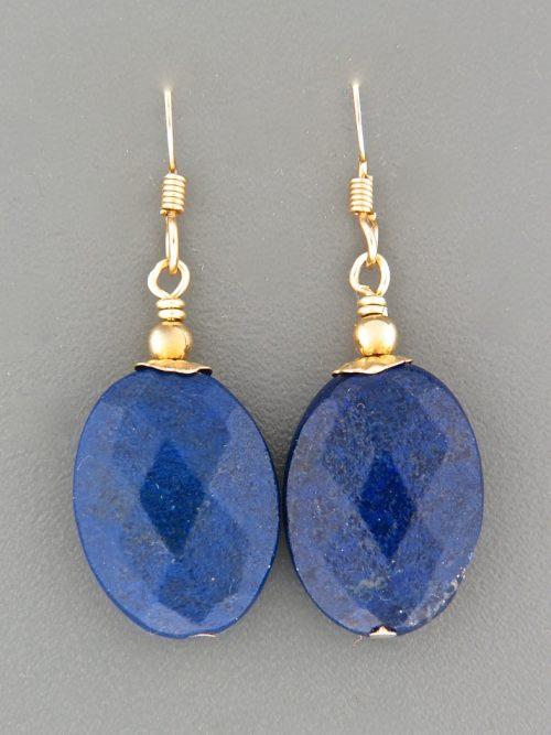 Lapis Lazuli Earrings - 14ct Gold Filled - LL525G