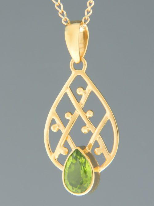 Peridot Pendant - Gold Vermeil - P309GV