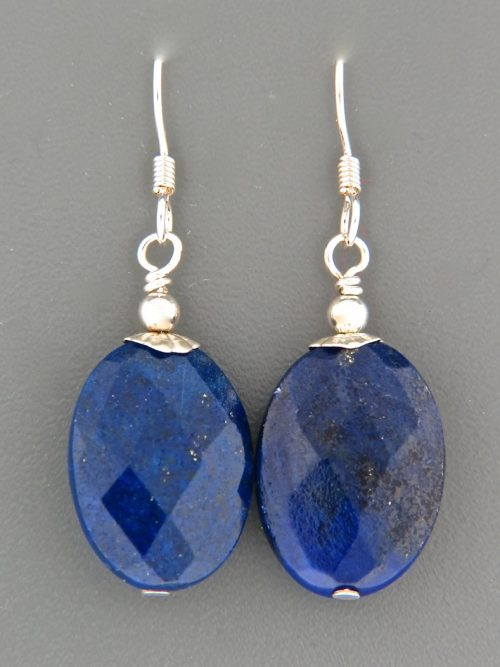 Lapis Lazuli Earrings - Sterling Silver - length 42mm - LL525