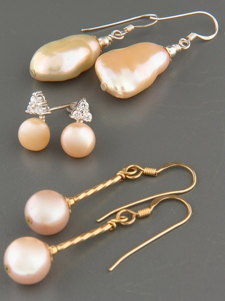 View Our Selection of Pink, Silver & Champagne Pearls