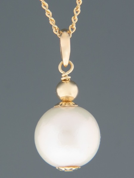 Pacific Pearl Pendant - 9ct Gold - 14mm Pearl - YW14PG